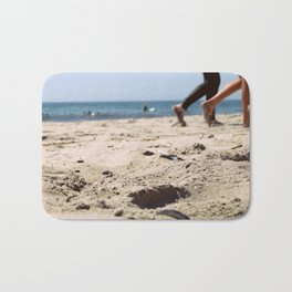 Walking on the Sand, Queens, New York City Bath Mat