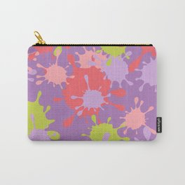 Paint Splatter-Purple+Pink+Green Carry-All Pouch
