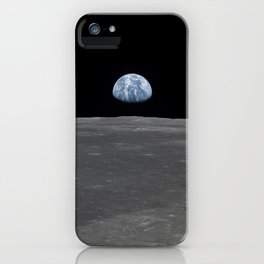see the marble from the moon   space 005 iPhone Case