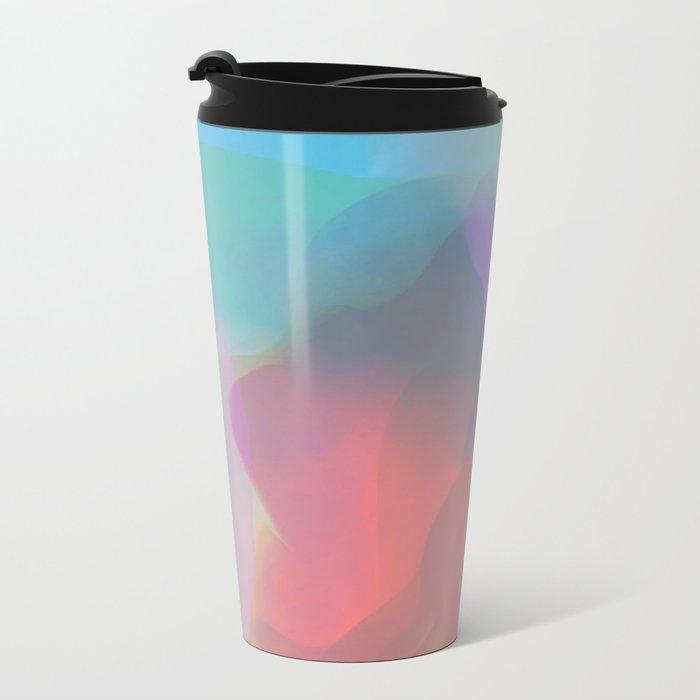 watercolor paint Metal Travel Mug