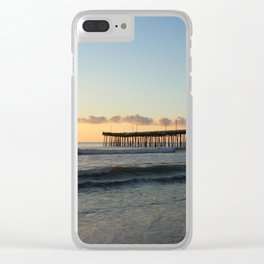 Early Morning at Virginia Beach Pier Clear iPhone Case
