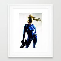samus Framed Art Prints featuring Samus by Pauline French