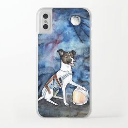 Our hero, Laika Clear iPhone Case
