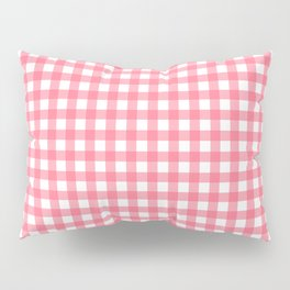 Pink Gingham Pillow Sham