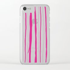 Vertical Living Hot Pink Clear iPhone Case