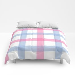 Pink and Blue Gingham Comforters