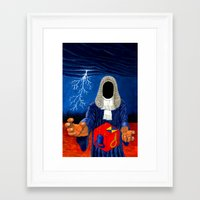 doom Framed Art Prints featuring Doom by Lupo Solitario