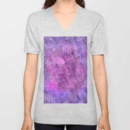 Pink and purple rough texture Unisex V-Neck