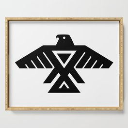 Anishinaabe Ojibwe Thunderbird flag Serving Tray