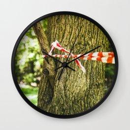 Tape Around A Tree Wall Clock
