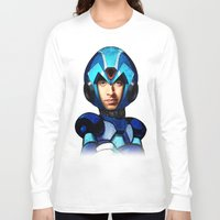 megaman Long Sleeve T-shirts featuring Megaman wolowitz by seb mcnulty