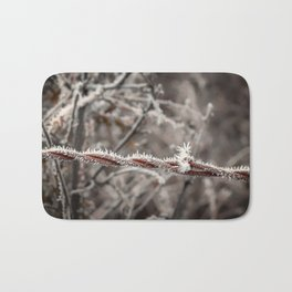 Frosty Barbed Wire Bath Mat