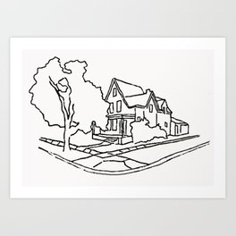 Dearborn Street Sketch Art Print