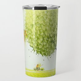 BY THE RIVER-SELLING FLOWERS Travel Mug