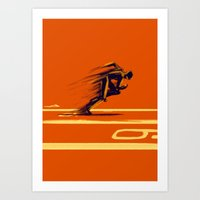 Athlethic's Run Art Print