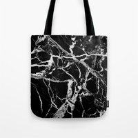 geology Tote Bags featuring Marble by Patterns and Textures
