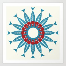 Red Fish, Blue Fish in a Ring Art Print
