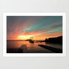 Autumn Sunrise Bar Harbor maine Art Print