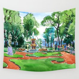 The Summer Garden in Saint Petersburg, Russia Wall Tapestry