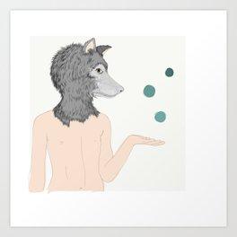 Lobo malabar Art Print