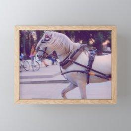 DREAM horse in the city Framed Mini Art Print