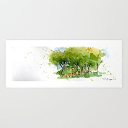 Along the Road Art Print