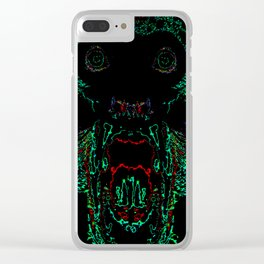 Green Abomination Clear iPhone Case
