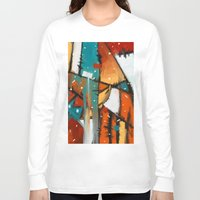 camp Long Sleeve T-shirts featuring Camp fire by mystudio69
