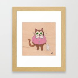 Two Kitties Framed Art Print