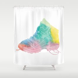 Hiking in style Shower Curtain