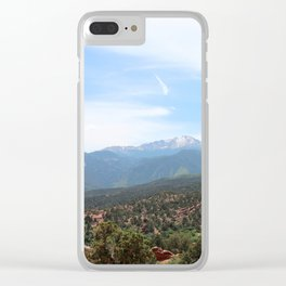 Spectacular View of Pike's Peak Clear iPhone Case