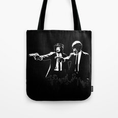 Divine Monkey Intervention Tote Bag