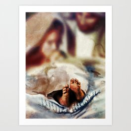 The Nativity in depth of field Art Print