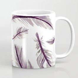 Dusty Amethyst Feathers Coffee Mug