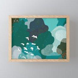 M+M Emerald Forest Bird's Eye View by Friztin Framed Mini Art Print