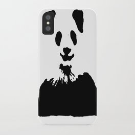Pandas Blend into White Backgrounds iPhone Case