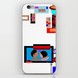 A Dinner and a Movie with Technology iPhone Skin
