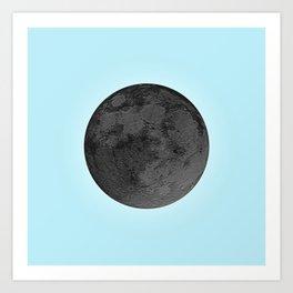 BLACK MOON + BLUE SKY Art Print