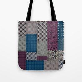 Rustic patchwork Tote Bag