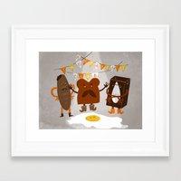 the breakfast club Framed Art Prints featuring Breakfast club by monrix
