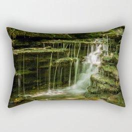 Pixley Waterfall 1 Forest Creek Rural Landscape Photograph Rectangular Pillow