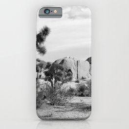 Black and White Joshua Tree National Park iPhone Case