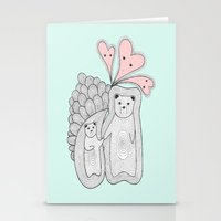 bears Stationery Cards featuring bears by s t i n g s