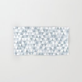 shades of ice gray triangles pattern Hand & Bath Towel