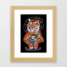 Tiger the Tattoo Artist Framed Art Print