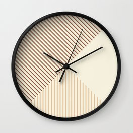 Geometric lines in Shades of Latte and Coffee Wall Clock