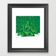 Vector Christmas Tree Framed Art Print