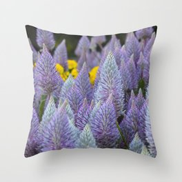 Fox tail Flowers Throw Pillow