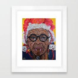 Old Cuban Lady with Cigar Framed Art Print