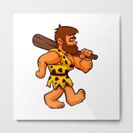 funny caveman Metal Print
